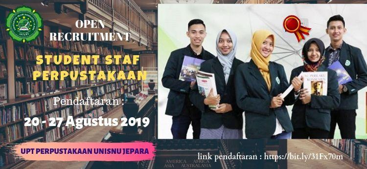 Open Recruitment Studen Staf Perpustakaan Unisnu Jepara